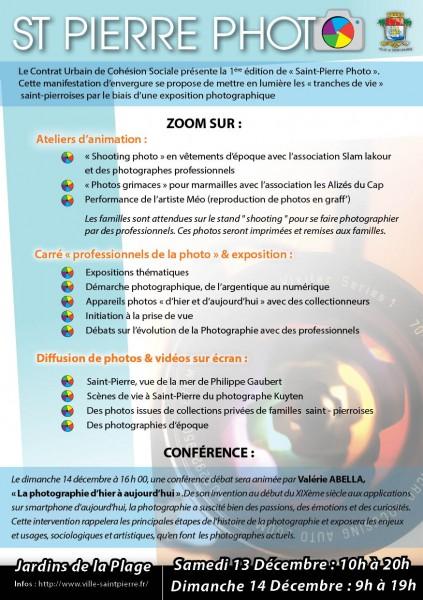 SAint-Pierre photo : le programme