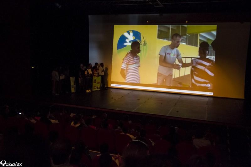 Présentation du projet devant les autres écoles qui ont travaillé avec le Parc National de La Réunion