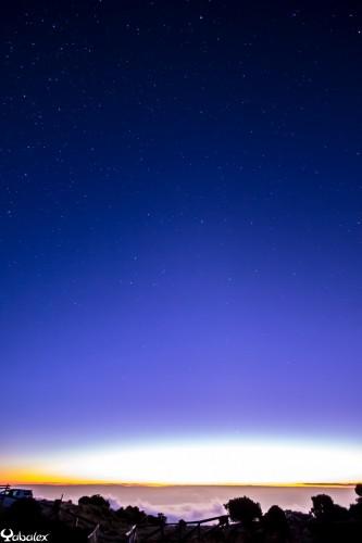 coucher de soleil et premières étoiles sur la cote ouest