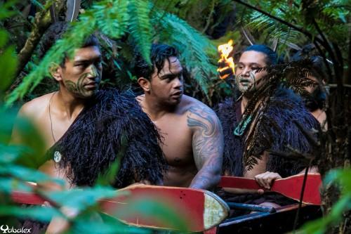 Spectacle Maori à Mitaï