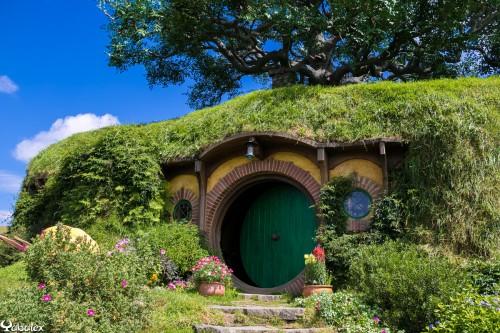 L'entrée de chez Hobbiton - Maison de Bilbo Baggins