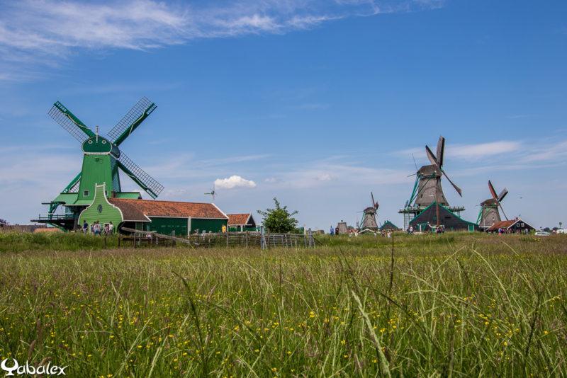 Moulins à vent de Zaanse Schans au Pays-bas, Hollande